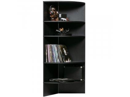 Černá dřevěná jasanová knihovna Richard 100 cm