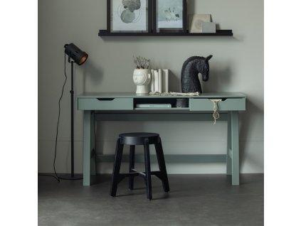 Černá dřevěná barová stolička Mallory 48 cm s dřevěnou podnoží