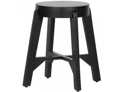 Černá mangová stolička Mallory 48 cm