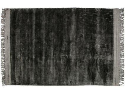 Antracitově šedý sametový koberec Lord 170 x 240 cm