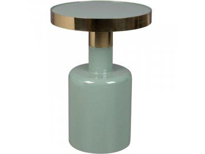 Smaltovaný zelený odkládací stolek Glam