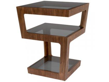 Skleněný odkládací stolek DUTCHBONE Glavo 43 x 43 cm