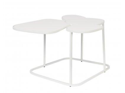 Bílý smaltovaný konferenční stolek ZUIVER Moondrop