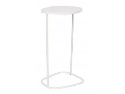 Bílý smaltovaný odkládací stolek ZUIVER Moondrop