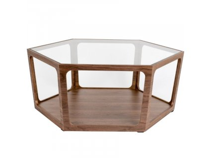 Skleněný konferenční stolek DUTCHBONE Sita 92,5 x 80 cm