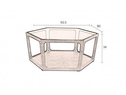 Skleněný konferenční stolek DUTCHBONE Sita