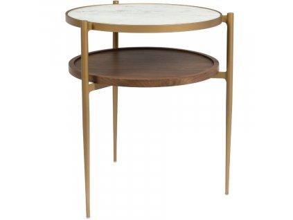 Kulatý kovový odkládací stolek DUTCHBONE Bella