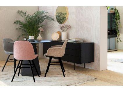 Světle šedá čalouněná jídelní židle ZUIVER Albert Kuip