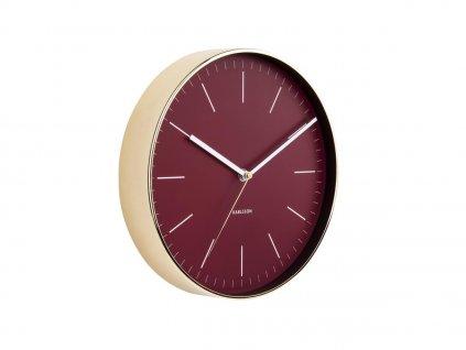 Vínovo zlaté kulaté nástěnné hodiny Okel
