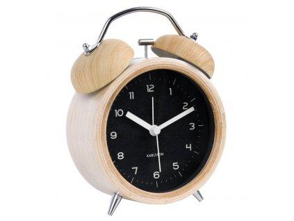 Černý dřevěný budík Bell XL