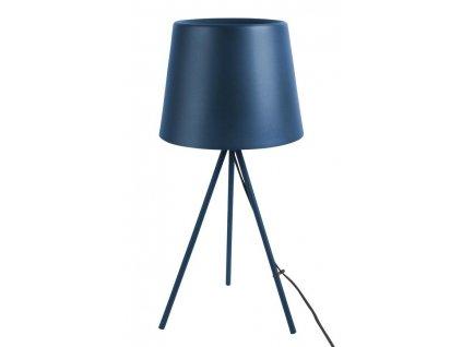Modrá kovová stolní lampa Vois