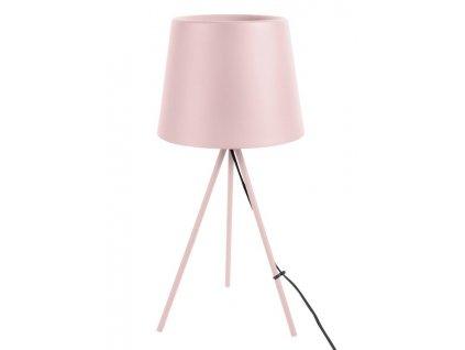 Světle růžová kovová stolní lampa Vois