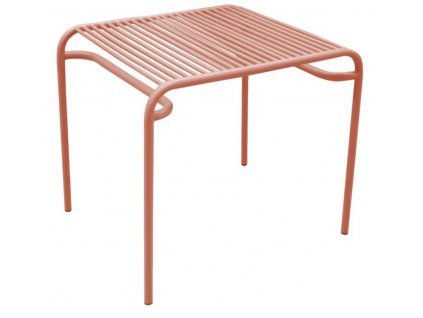 Červený kovový odkládací stolek Liner