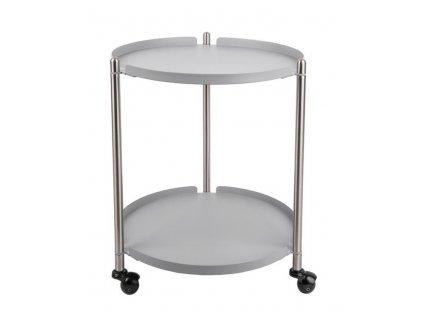 Šedo stříbrný odkládací stolek Haran