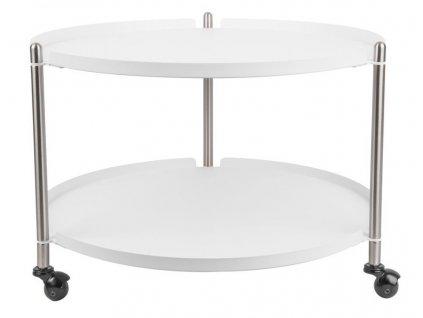 Bílý konferenční stolek Haran