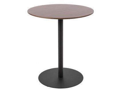 Přírodní tmavý kulatý odkládací stolek Sulm