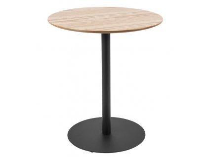 Přírodní světlý kulatý odkládací stolek Sulm