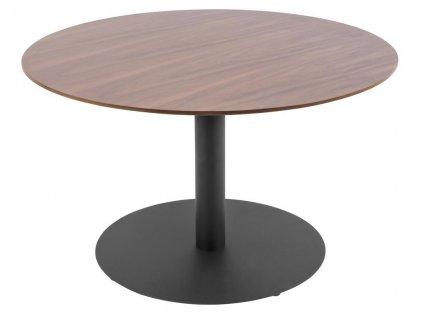 Přírodní tmavý kulatý konferenční stolek Sulm
