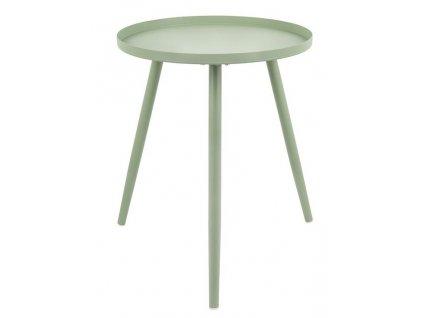 Zelený kulatý odkládací stolek Aburi 55 cm