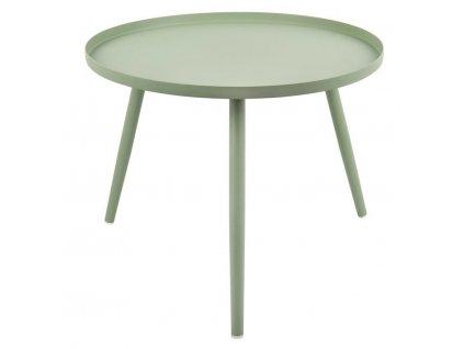 Zelený kulatý odkládací stolek Aburi 40 cm