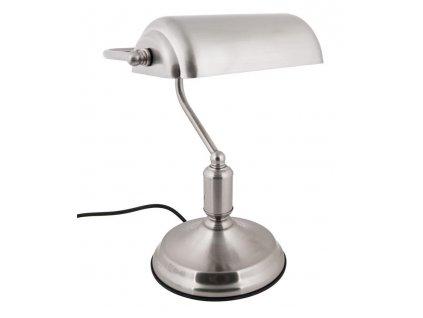 Stříbrná stolní lampa Gidel