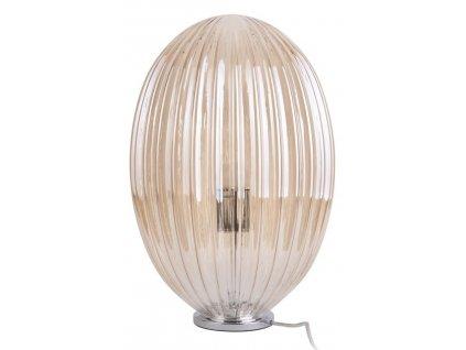 Jantarově hnědé stolní skleněná lampa Anastacia II.