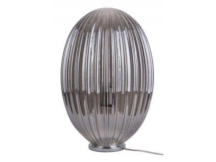 Kouřově šedá stolní skleněná lampa Anastacia II.
