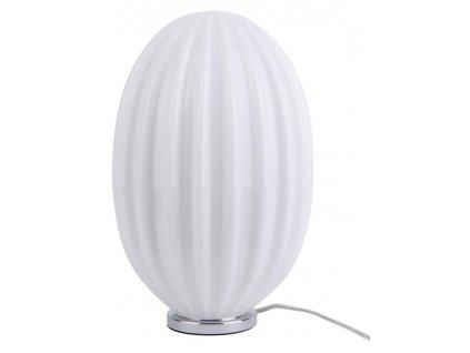 Opálově bílá skleněná oválná stolní lampa Anastacia I.