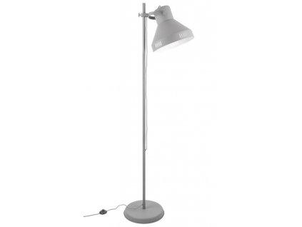 Šedá stojací lampa Kin
