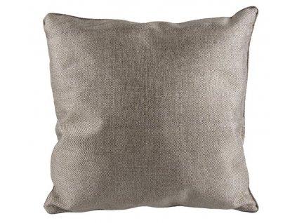 Stříbrný čtvercový polštář Blend