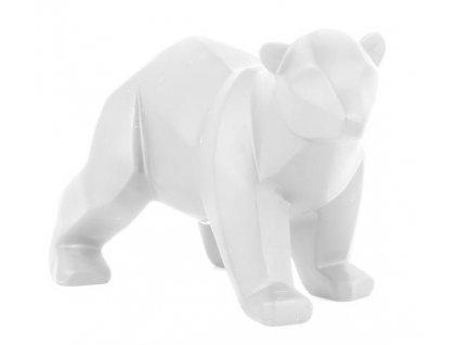 Bílý dekorativní medvěd Origami S