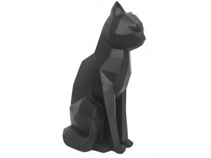Černá dekorativní sedící kočka Origami