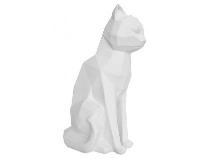 Bílá dekorativní sedící kočka Origami