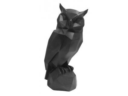 Černá dekorativní sova Origami