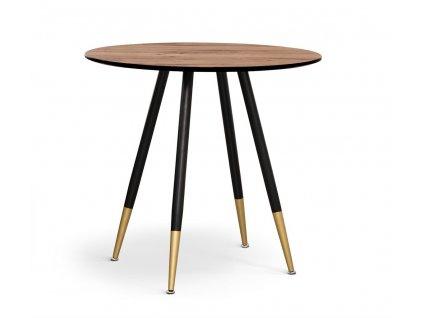 Kulatý ořechový jídelní stůl Bravo 80 cm dýha