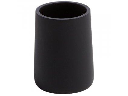 Černý plastový stojan na zubní kartáčky LaForma Ludwig