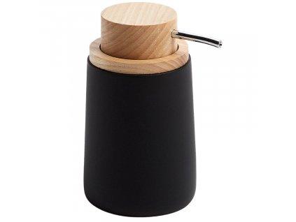 Černý plastový dávkovač na mýdlo LaForma Ludwig