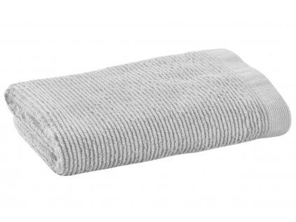 Malý světle šedý bavlněný ručník LaForma Miekki