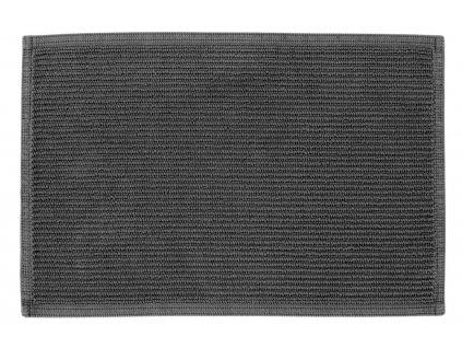 Antracitově šedá bavlněná koupelnová předložka LaForma Miekki 40 x 60 cm