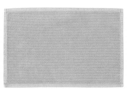 Světle šedá bavlněná koupelnová předložka LaForma Miekki 40 x 60 cm