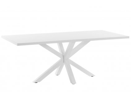 Bílý dřevěný jídelní stůl LaForma Arya 180x100 cm