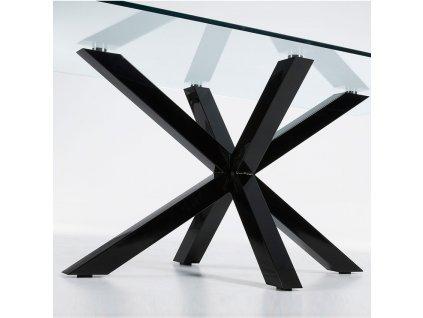 Skleněný jídelní stůl LaForma Arya 200 x 100 cm s kovovou podnoží