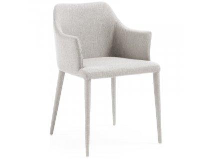 Světle šedá látková jídelní židle LaForma Danai III.