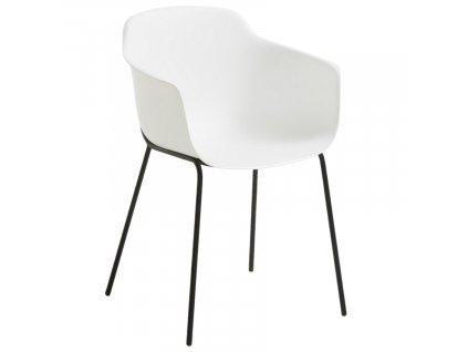 Bílá plastová jídelní židle LaForma Khasumi