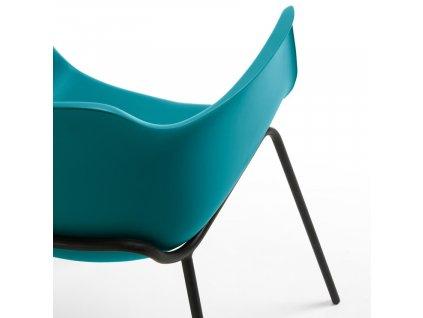 Modrá plastová jídelní židle LaForma Khasumi