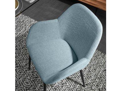 Modrá látková jídelní židle LaForma Konna