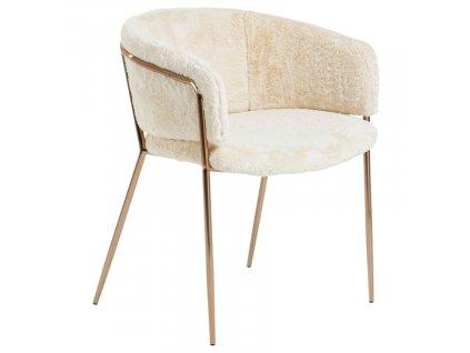 Bílá jídelní židle LaForma Konnie