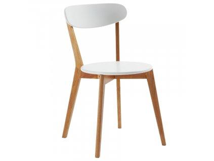 Bílá dřevěná jídelní židle LaForma Luana