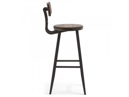 Dřevěná barová židle Malinda