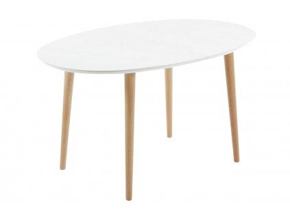 Bílý rozkládací jídelní stůl LaForma Oakland 140/220 x 90 cm